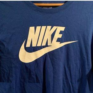 Nike Athletic Cut Short Sleeve Shirt L Blue